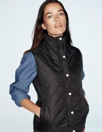 Ladies Diamond Quilted Gilet