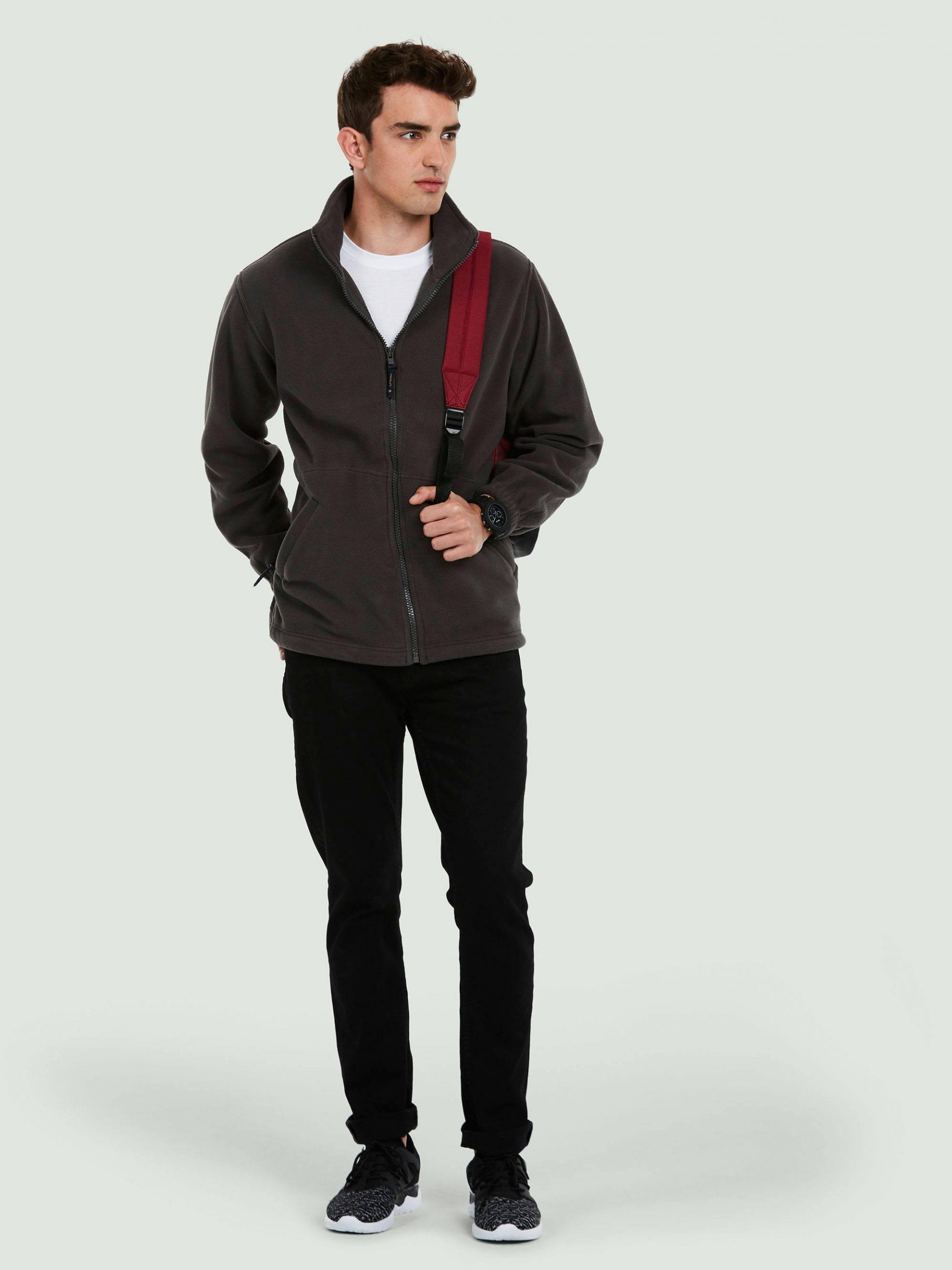 Adults Premium Full Zip Fleece Jacket